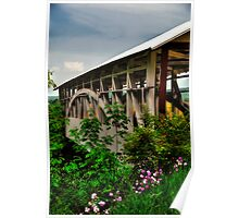 Bowser's Covered Bridge In May Poster