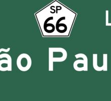 Sao Paulo, Road Sign, Brazil Sticker