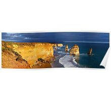 Dramatic Light over the Twelve Apostles, Victoria, Australia Poster