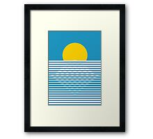 Retro sunrise Framed Print