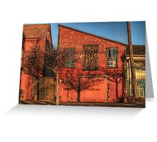 The Red Shops on Water Street Greeting Card