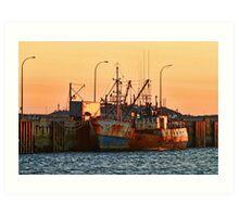 Rusty Ship, Rusty Sky Art Print