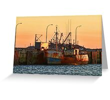Rusty Ship, Rusty Sky Greeting Card