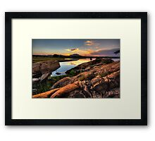 Color on the Rocks Framed Print