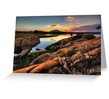 Color on the Rocks Greeting Card
