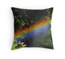 Small Rainbow Throw Pillow