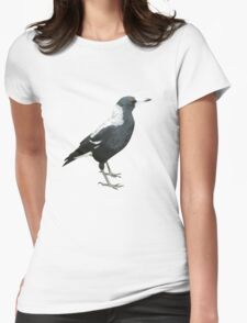 Australian Magpie Womens Fitted T-Shirt