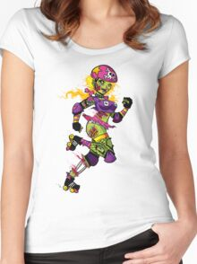 Zombie Derby Doll Women's Fitted Scoop T-Shirt
