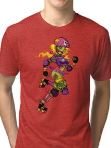 Zombie Derby Doll Tri-blend T-Shirt