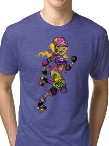 Zombie Derby Doll Tri-blend T-Shirt