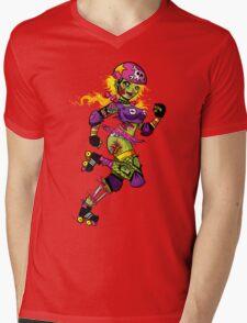 Zombie Derby Doll Mens V-Neck T-Shirt