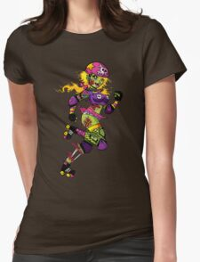 Zombie Derby Doll Womens Fitted T-Shirt