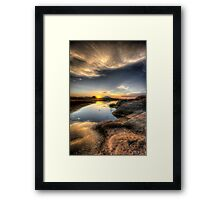 Setting Framed Print
