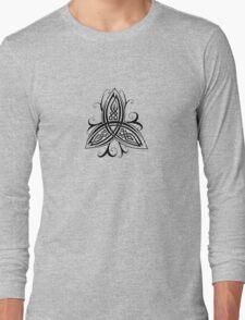 Fancy Trinity B - Knotwork - Black Long Sleeve T-Shirt