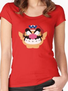 Wario Minimalistic Design Women's Fitted Scoop T-Shirt