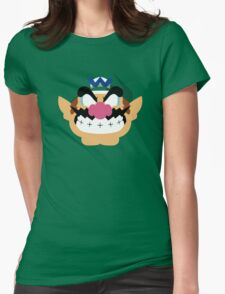 Wario Minimalistic Design Womens Fitted T-Shirt