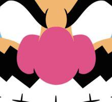 Wario Minimalistic Design Sticker