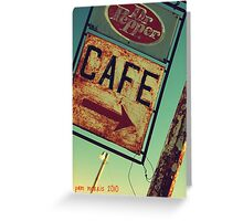 Dr Pepper Cafe Greeting Card