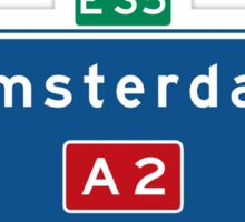 Amsterdam, Highway Sign, Netherlands Sticker
