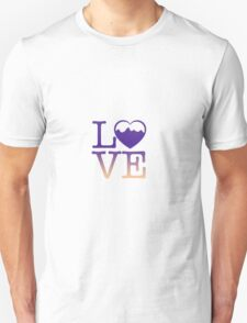 Mountain love multi color  T-Shirt