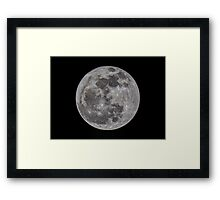 The Moon HDR Framed Print