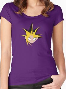 Yu-Gi-Oh! Minimalistic Design Women's Fitted Scoop T-Shirt
