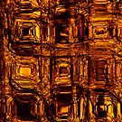 Golden circuitry - phone and iPod skin by Scott Mitchell