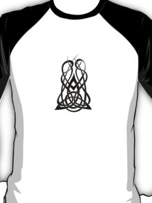 Trinity Fire A - Knotwork - Black T-Shirt