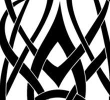 Trinity Fire A - Knotwork - Black Sticker