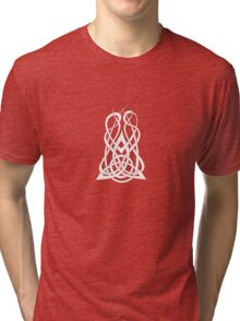 Trinity Fire A - Knotwork - White Tri-blend T-Shirt