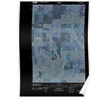 USGS Topo Map Washington State WA Piersol Hills 20110425 TM Inverted Poster