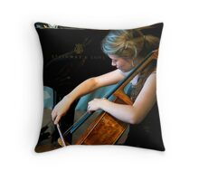 Cellist Throw Pillow