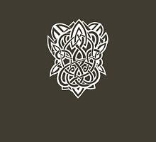 Bracer Knot A - Celtic Knotwork - White Unisex T-Shirt