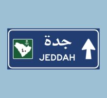 Jeddah Highway Sign, Saudi Arabia Kids Tee