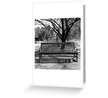 Agua Caliente Park Bench Greeting Card