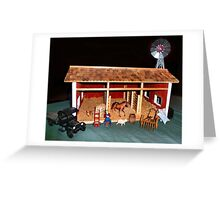 The Stable (A Miniature) Greeting Card