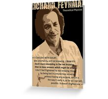 Richard P. Feynman, Theoretical Physicist (Sepia) Greeting Card