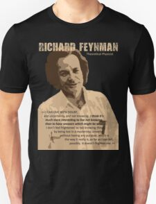 Richard P. Feynman, Theoretical Physicist (Sepia) Unisex T-Shirt