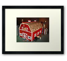 New Red Barn (A Miniature) Framed Print