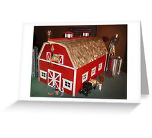 New Red Barn (A Miniature) Greeting Card