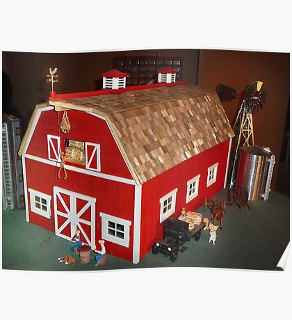 New Red Barn (A Miniature) Poster