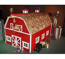 New Red Barn (A Miniature) Photographic Print
