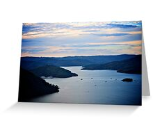 Boats on lake eildon Greeting Card