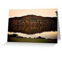 Lake Eildon at dusk Greeting Card