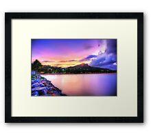 Sunset Strand Framed Print