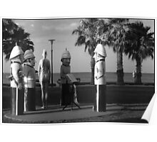 Soldier Bollards, Geelong, Australia Poster