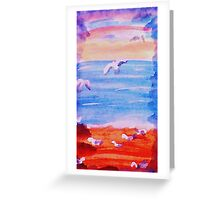 The Sea Gulls have taken over, watrcolor Greeting Card
