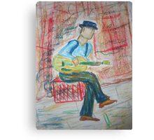 Street Busker Canvas Print