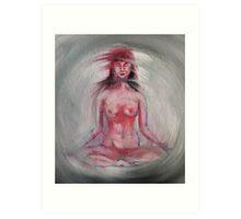 Nude Lotus Art Print