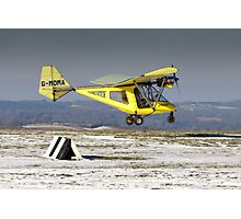 Yellow Thruster lands at Compton Abbas Photographic Print